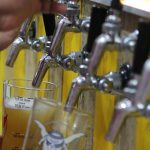 Beers being poured