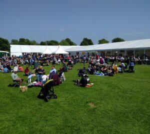 The garden of the Cambridge Beer Festival